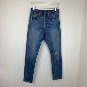 Levi's High Rise Distressed 501 Jeans W30